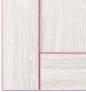 Ясень анкор светлый, розовый декор